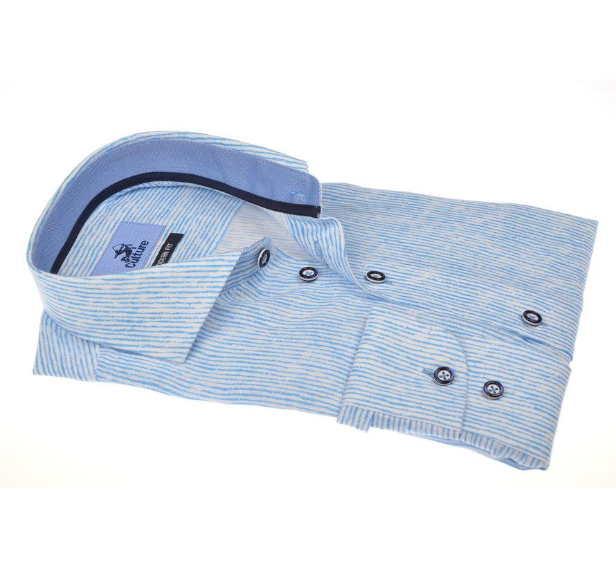 Overhemd Print Blauw (215302 - 32)