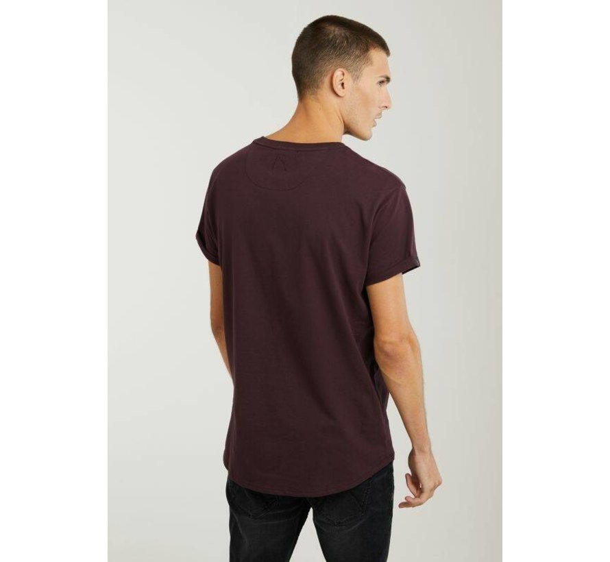 T-shirt Ronde Hals BRODY Burgundy Rood (5211.213.141 - E41)