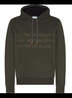 Calvin Klein Hooded Sweater Groen (K10K105720 - MRZ)