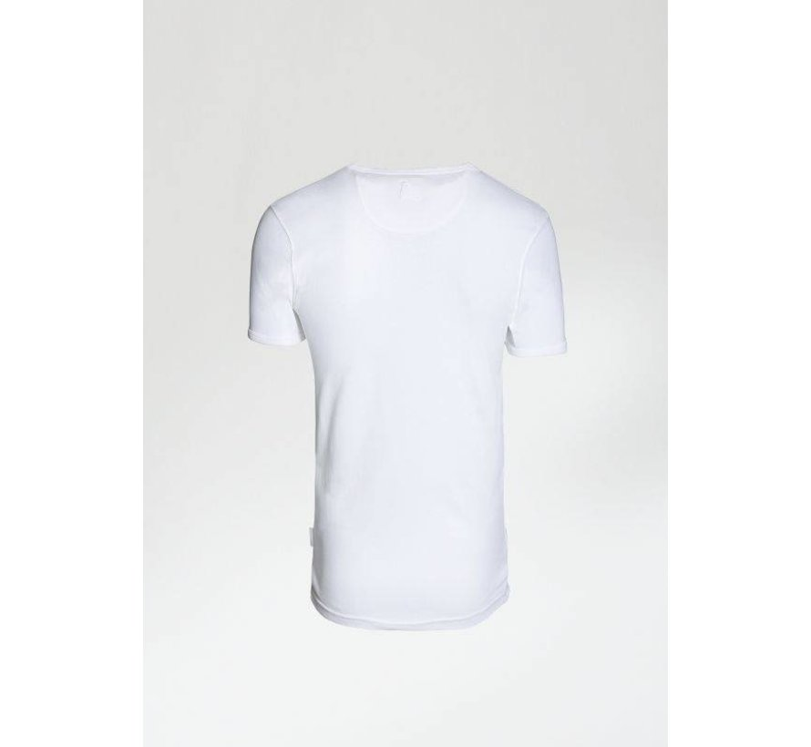 T-shirt Ronde Hals BASE-B Wit (5211.400.122 - E10)