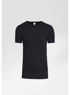 CHASIN' T-shirt Ronde Hals BASE-B Zwart (5211.400.122 - E90)
