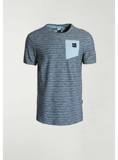 CHASIN' T-shirt Ronde Hals TODAY Blauw (5211.400.140 - E64)