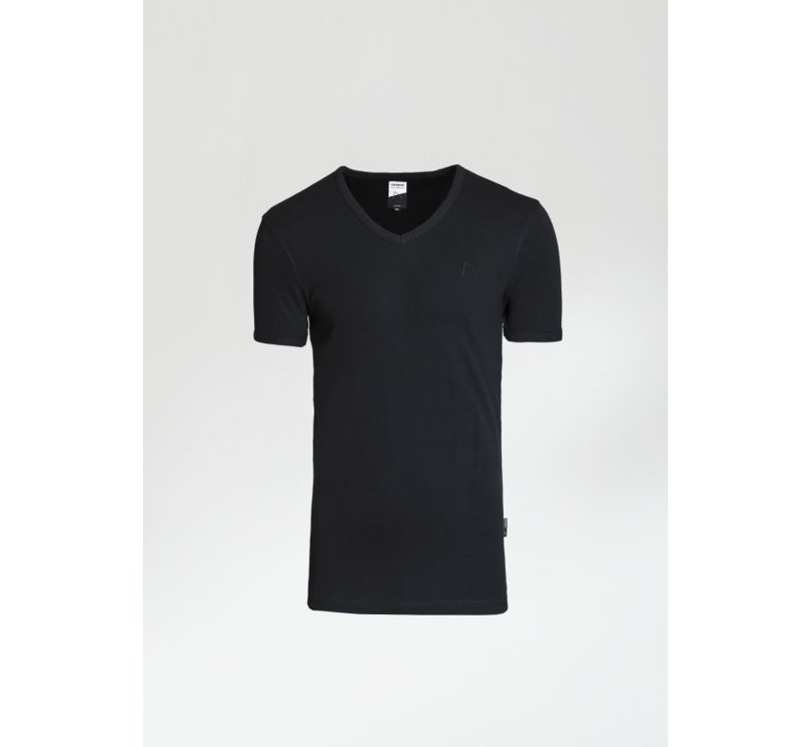 T-shirt V-Hals CAVE-B Zwart (5212.400.012 - E90)