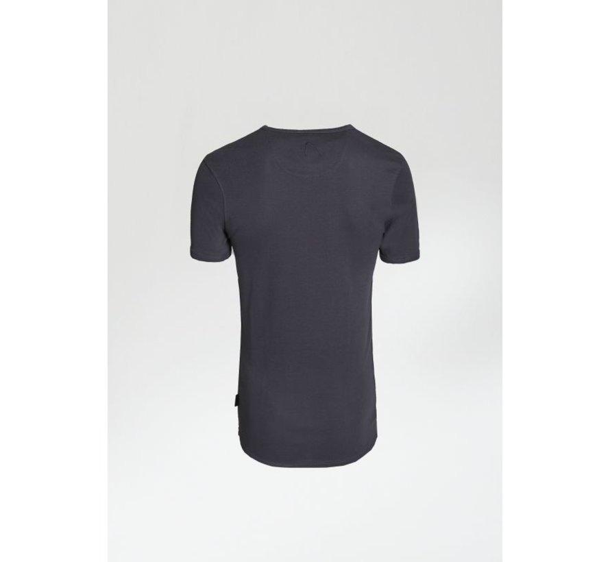 T-shirt V-Hals CAVE-B Antraciet Grijs (5212.400.012 - E95)