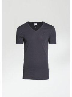 CHASIN' T-shirt V-Hals CAVE-B Antraciet Grijs (5212.400.012 - E95)