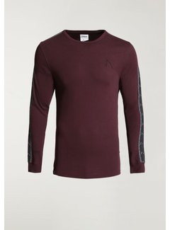 CHASIN' T-shirt Lange Mouw Ronde Hals DAMIAN SPORT Burgundy Rood (5111.213.034 - E41)