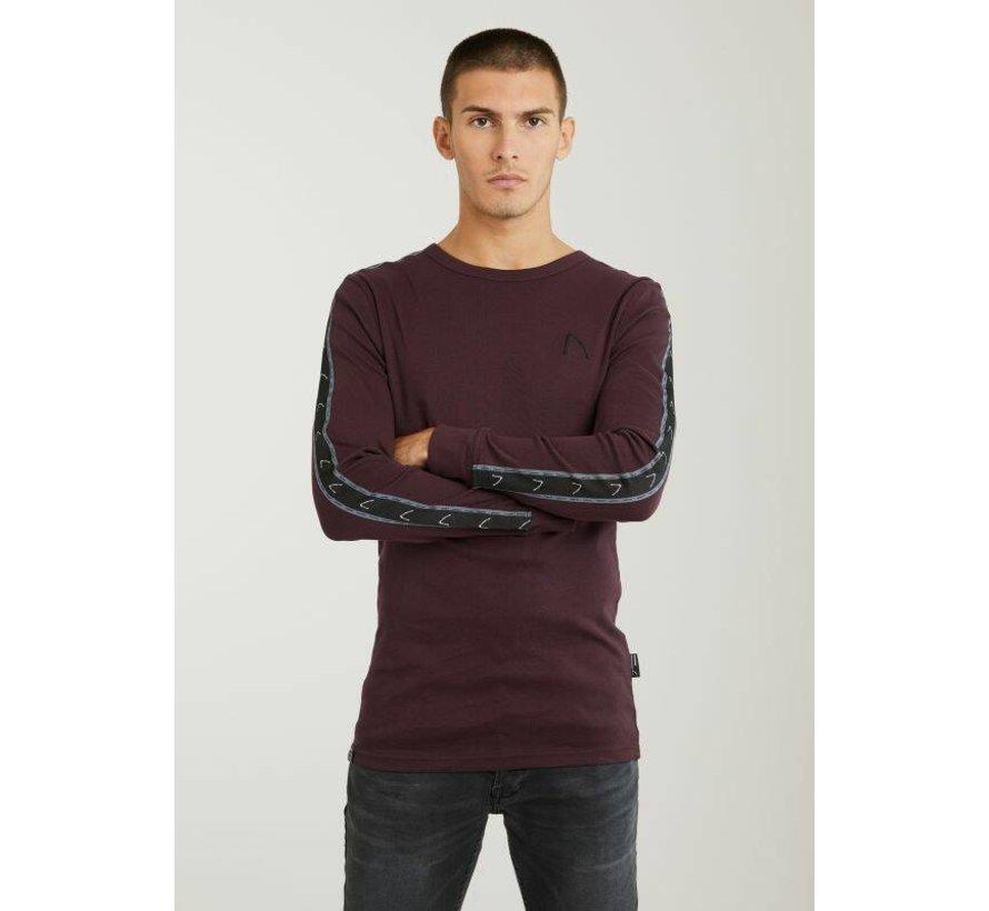 T-shirt Lange Mouw Ronde Hals DAMIAN SPORT Burgundy Rood (5111.213.034 - E41)