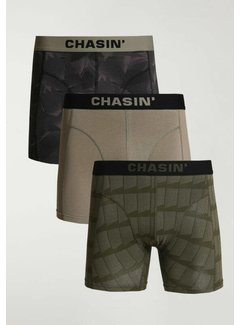 CHASIN' Boxershorts 3Pack THRICE WAVES Army Groen (9U00.172.110 - E50)
