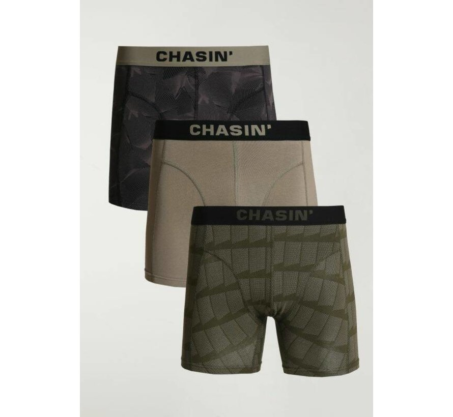Boxershorts 3Pack THRICE WAVES Army Groen (9U00.172.110 - E50)