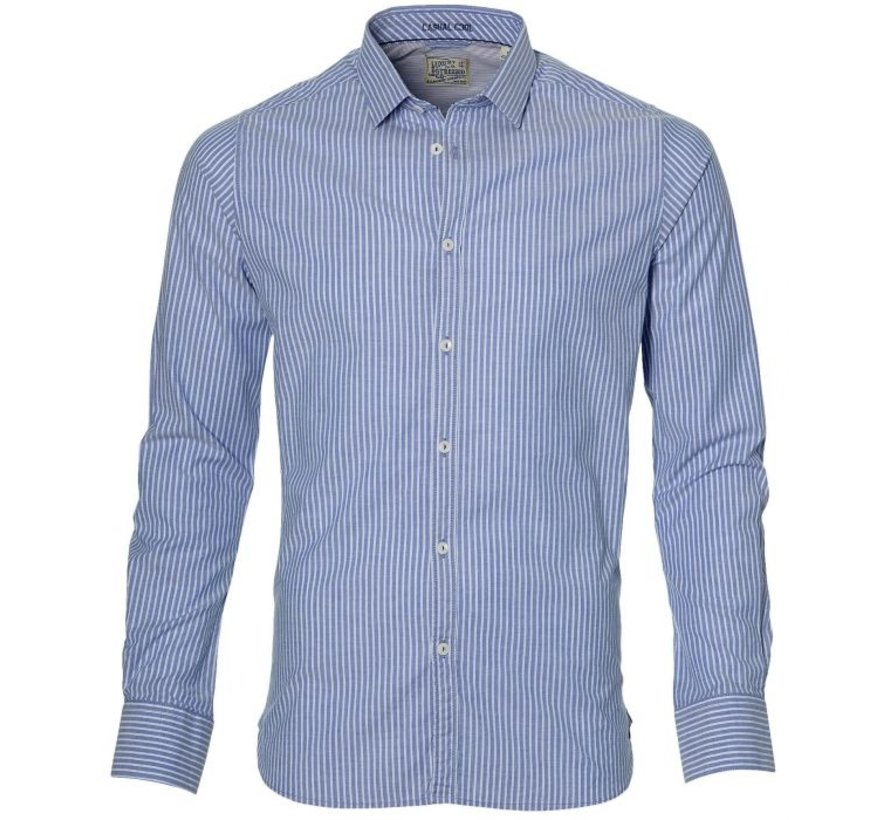 Overhemd Dress Stripe Blauw (303074 - 60)