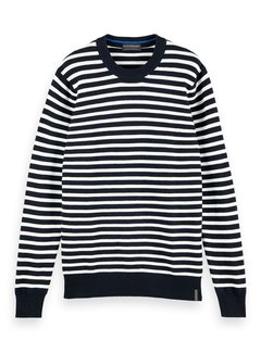 Scotch & Soda Trui Streep Navy/Wit (158600 - 0219)