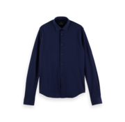 Scotch & Soda Overhemd Slim Fit Structuur Navy (160554 - 0002)