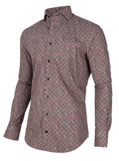 Cavallaro Napoli Overhemd Renzo Print Rood (110205001 - 450007)