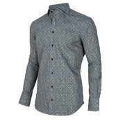 Cavallaro Napoli Overhemd Renzo Print Blauw (110205001 - 650007)