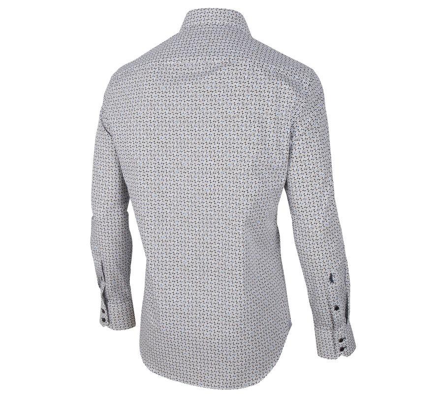 Overhemd Arco Print Wit (110205005 - 100807)