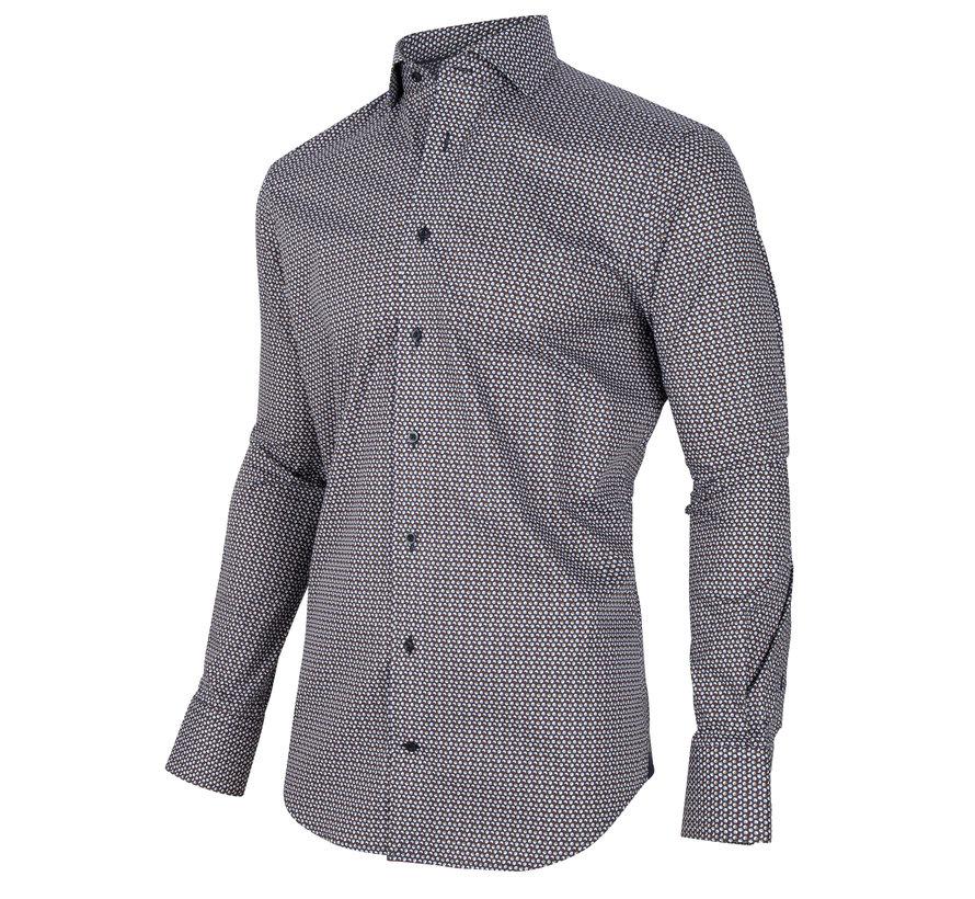 Overhemd Ballino Print Navy Blauw (110205014 - 699007)