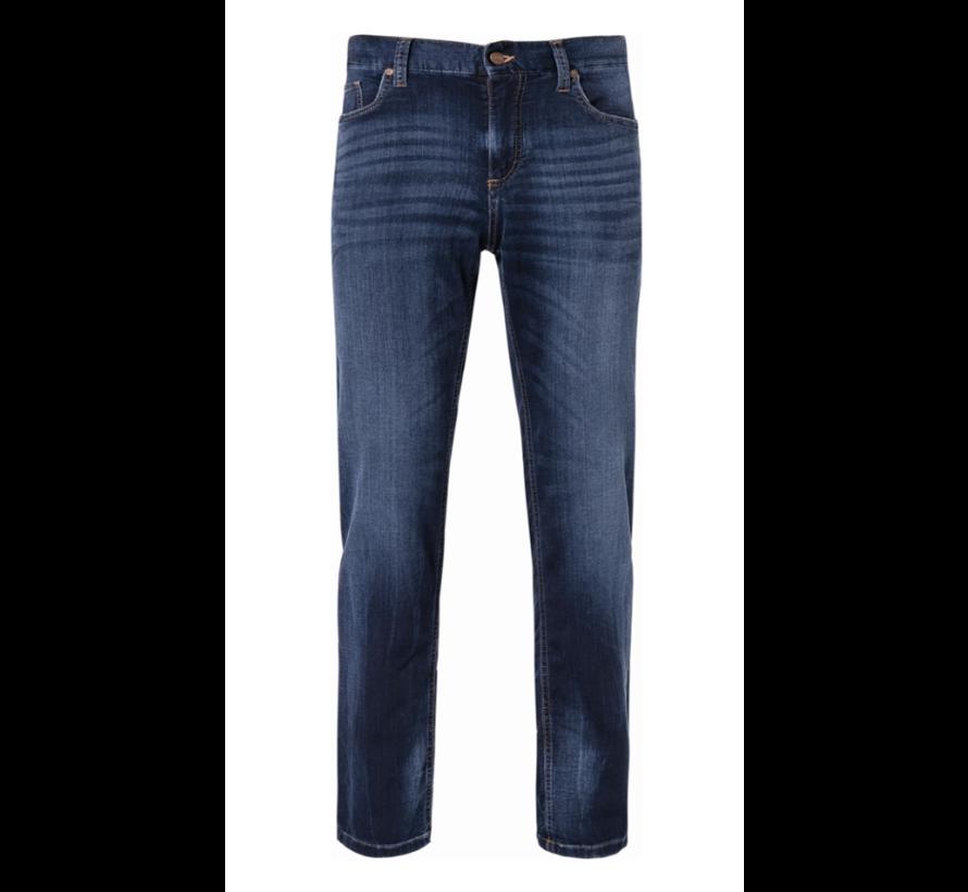 Jeans Pipe Regular Slim Fit T400 Donker Blauw (4817 - 1859 - 898)N