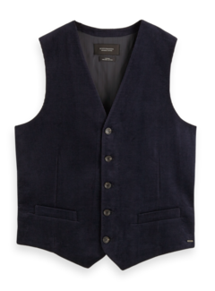 Scotch & Soda Gilet Geribt Navy Blauw (158337 - 0002)