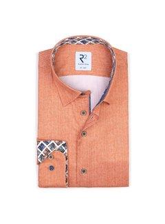 R2 Amsterdam Overhemd Oranje (110.HBD.038 - 095)