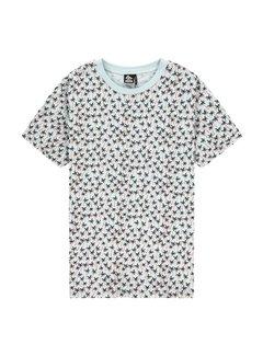 Kultivate T-shirt Ronde Hals Print Palmbomen Mulitcolor (2001020207 - 355)