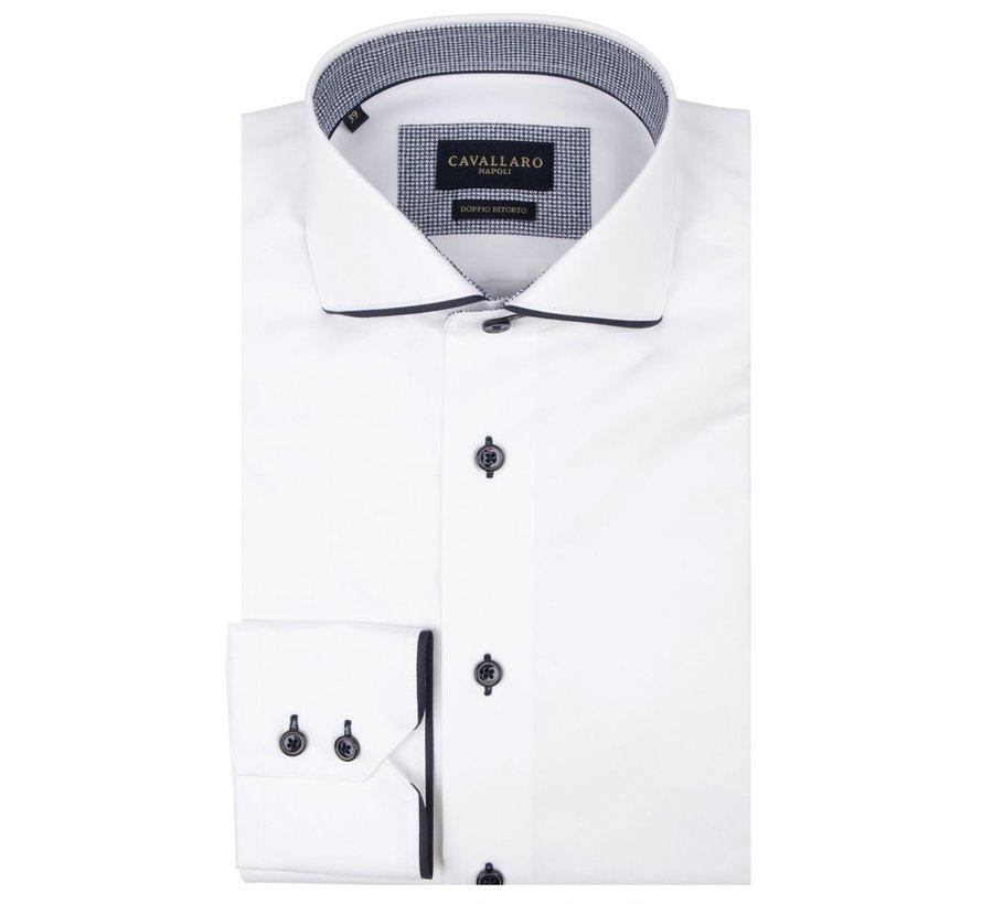 Overhemd Giovano Optical Wit (110205042 - 100000)