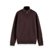 Scotch & Soda Sweater Half-zip Bordeaux Rood (158458 - 3499)
