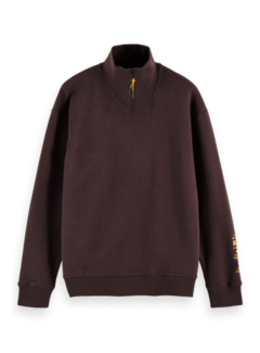 Scotch & Soda Sweater Half-zip Bordeaux Rood (158458 - 3499)