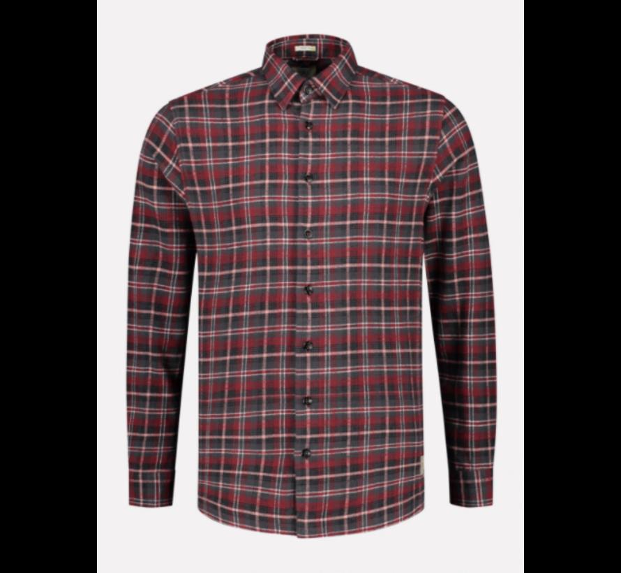 Overhemd Loose Fit Print Ruit Rood (303372 - 422)