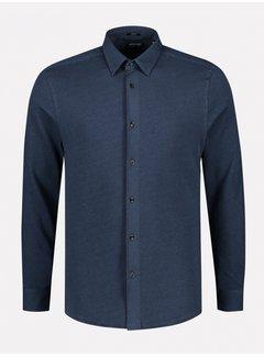 Dstrezzed Overhemd Slim Fit Navy Melange (303378 - 650)