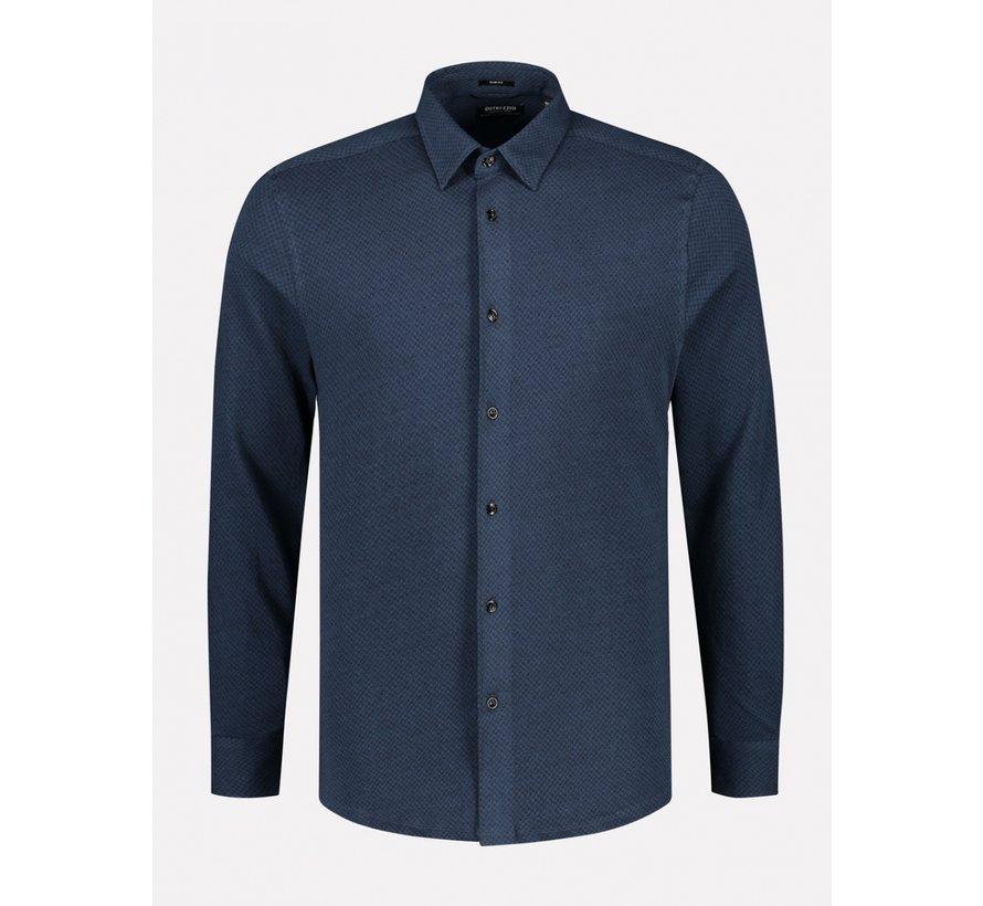 Overhemd Slim Fit Navy Melange (303378 - 650)