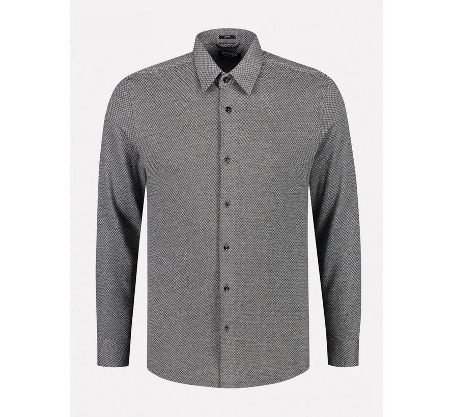 Overhemd Slim Fit Grijs Melange (303378 - 898)