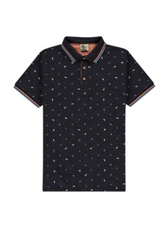 Kultivate Polo Beach Essentials Print Navy Blauw (2001020408 - 445)