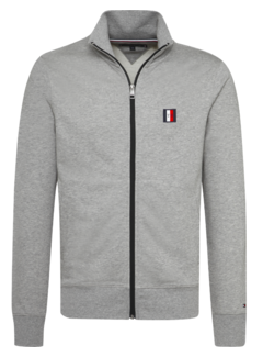 Tommy Hilfiger Vest Logo Zip Grijs (MW0MW10755 - 501)