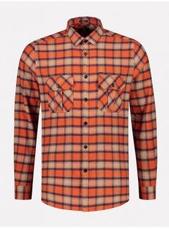 Dstrezzed Overhemd Washed Check Flannel Oranje (303374 - 439)