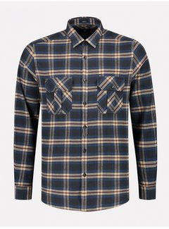 Dstrezzed Overhemd Washed Check Flannel Navy (303374 - 649)