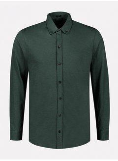 Dstrezzed Overhemd Slub Jersey Groen (303382 - 513)