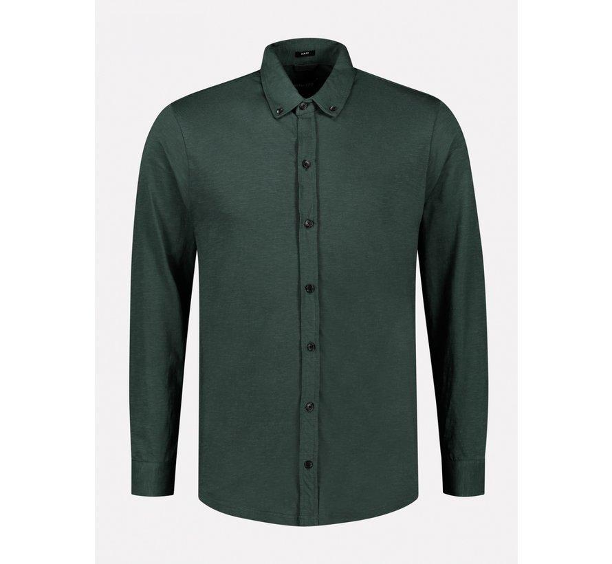 Overhemd Slub Jersey Groen (303382 - 513)