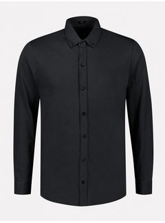 Dstrezzed Overhemd Slub Jersey Zwart (303382 - 999)