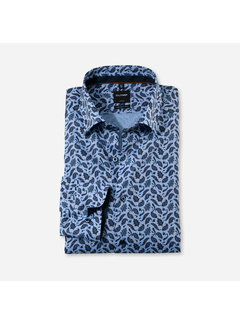 Olymp Overhemd Luxor Modern Fit Print Blauw (1360 64 27)