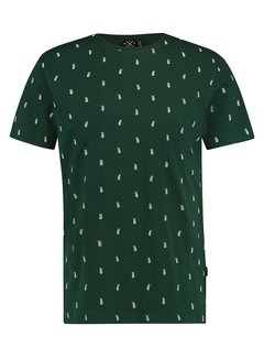 Kultivate T-shirt Ananas Army Groen (1901020239 - 324)