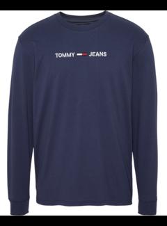 Tommy Hilfiger Longsleeve T-shirt Logo Navy (DM0DM07190 - CBK)