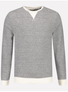 Dstrezzed Pullover Ronde Hals Streep Off White (211348 - 102)