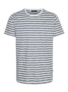 Matinique T-shirt Jermane Streep Zwart/Wit (30204782 - 114001)
