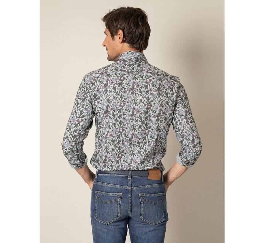 Overhemd Florado Print Licht Grijs (110205030 - 900007)