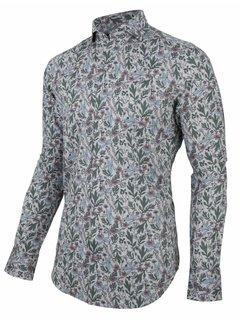 Cavallaro Napoli Overhemd Florado Print Licht Grijs (110205030 - 900007)