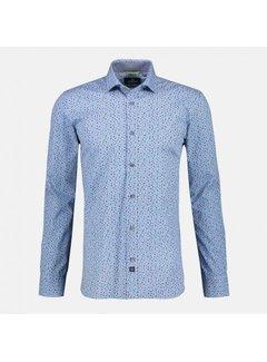 Lerros Overhemd Stretch Print Blauw (2091330 - 402)