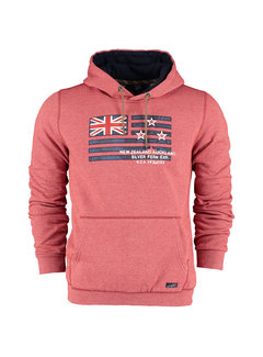 New Zealand Auckland Hooded Sweater Waihoihoi Brick Red (20HN322 - 605)