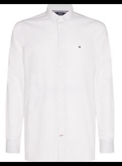 Tommy Hilfiger Overhemd Slim Flex Herringbone Wit (MW0MW15029 - YBW)