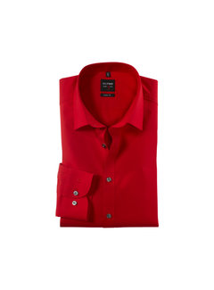 Olymp Overhemd Level Five Body Fit Rood (6090 64 35)