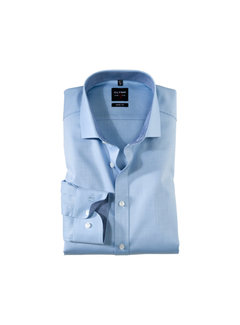 Olymp Overhemd Level 5 Body Fit Print Blauw (0531 64 11N)